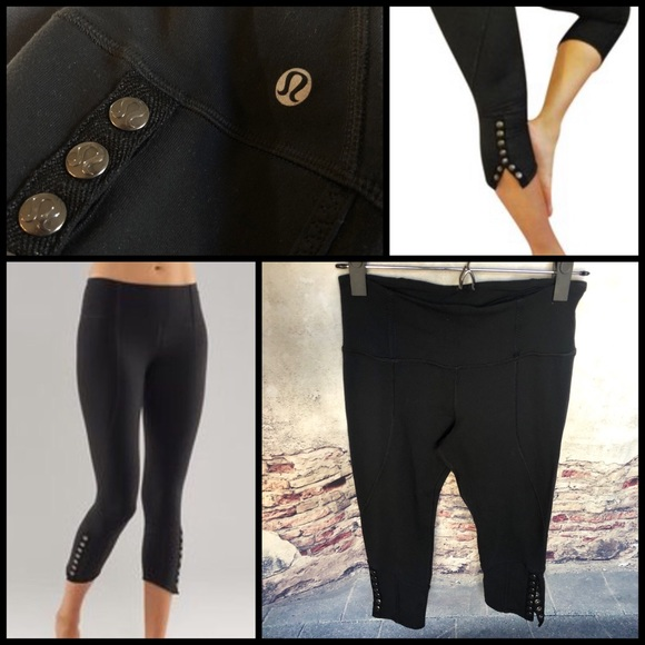 c716750cd0 lululemon athletica Pants - Lululemon Snap it to Me cropped leggings 0309